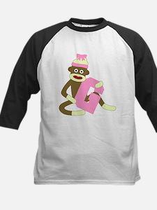 Sock Monkey Monogram Girl G Tee
