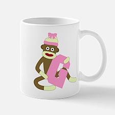 Sock Monkey Monogram Girl G Coffee Mug