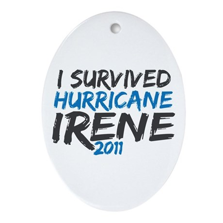 I Survived Hurricane Irene Ornament (Oval)