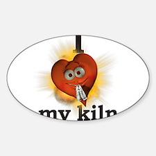 I heart \ love my kiln Oval Decal