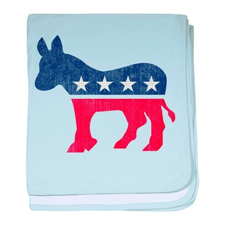 Democrat Donkey baby blanket