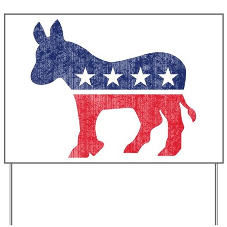 Democrat Donkey Yard Sign