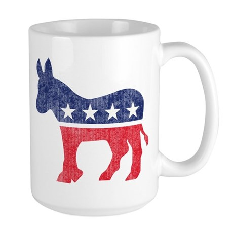 Democrat Donkey Large Mug