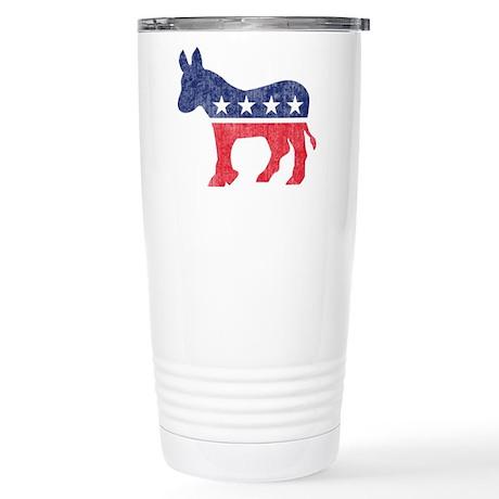 Democrat Donkey Stainless Steel Travel Mug