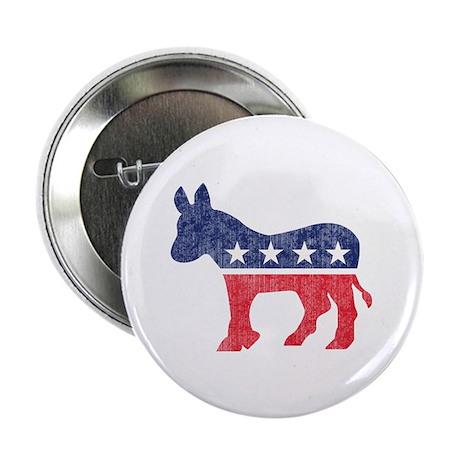 """Democrat Donkey 2.25"""" Button (10 pack)"""