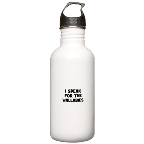 I Speak For The Wallabies Stainless Water Bottle 1