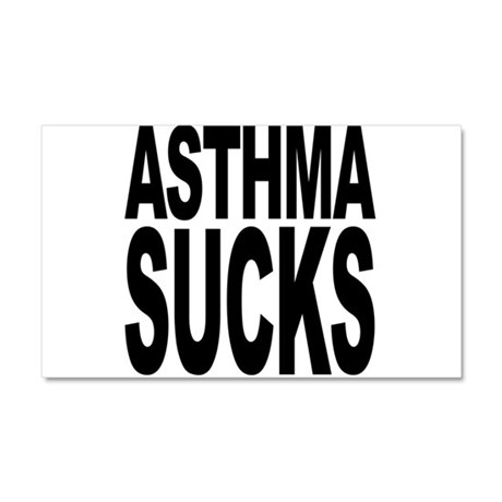 Asthma Sucks Car Magnet 20 x 12