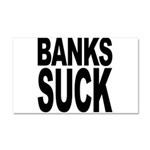 Banks Suck Car Magnet 20 x 12
