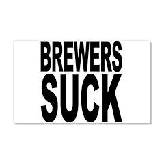 Brewers Suck Car Magnet 20 x 12