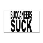 Buccaneers Suck Car Magnet 20 x 12