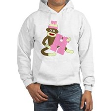 Sock Monkey Monogram Girl H Hoodie