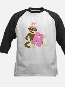 Sock Monkey Monogram Girl H Tee