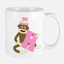 Sock Monkey Monogram Girl H Coffee Mug