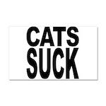 Cats Suck Car Magnet 20 x 12