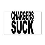 Chargers Suck Car Magnet 20 x 12