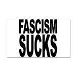 Fascism Sucks Car Magnet 20 x 12