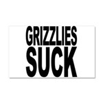 Grizzlies Suck Car Magnet 20 x 12
