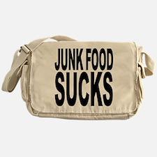 Junk Food Sucks Messenger Bag