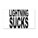 Lightning Sucks Car Magnet 20 x 12