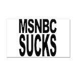MSNBC Sucks Car Magnet 20 x 12