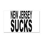 New Jersey Sucks Car Magnet 20 x 12