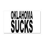 Oklahoma Sucks Car Magnet 20 x 12