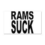Rams Suck Car Magnet 20 x 12