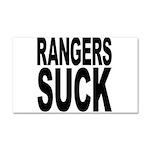 Rangers Suck Car Magnet 20 x 12