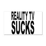 Reality TV Sucks Car Magnet 20 x 12