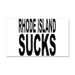 Rhode Island Sucks Car Magnet 20 x 12