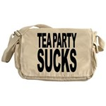 Tea Party Sucks Messenger Bag