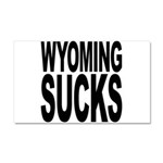 Wyoming Sucks Car Magnet 20 x 12