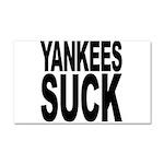 Yankees Suck Car Magnet 20 x 12