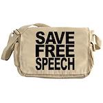 Save Free Speech Messenger Bag