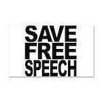 Save Free Speech Car Magnet 20 x 12