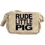 Rude Little Pig Messenger Bag