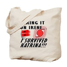 Hurricane Irene v Katrina Tote Bag