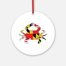 Maryland Crab Round Ornament