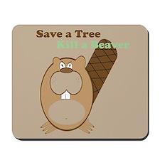 Save a Tree Mousepad - brown