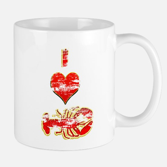 Vintage I heart Lobster Mug