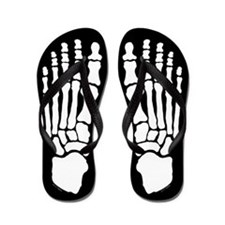 Skeleton Feet Flip Flops