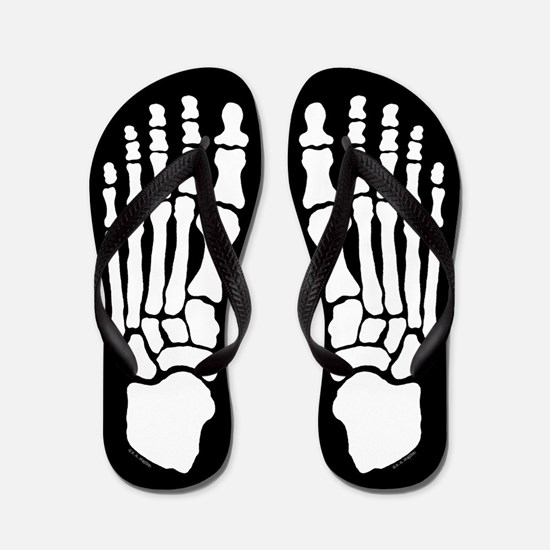 Skeleton Feet Flip Flops