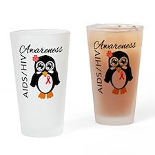 Penguin AIDS Awareness Drinking Glass