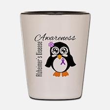Penguin Alzheimers Disease Shot Glass