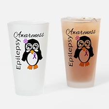 Penguin Epilepsy Awareness Drinking Glass