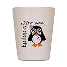 Penguin Epilepsy Awareness Shot Glass