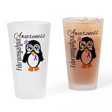 Penguin Fibromyalgia Drinking Glass