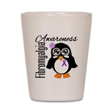 Penguin Fibromyalgia Shot Glass