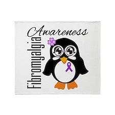 Penguin Fibromyalgia Throw Blanket