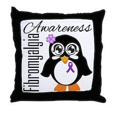 Penguin Fibromyalgia Throw Pillow